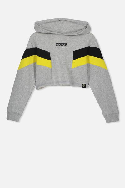 Afl Girls Retro Panel Chopped Hoody, RICHMOND