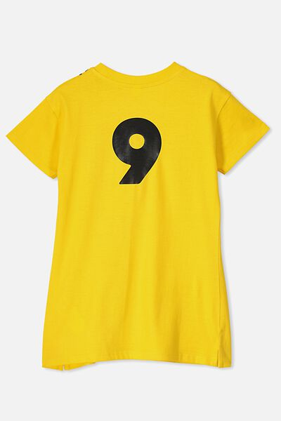 Personalised AFL Girls T-Shirt Dress, RICHMOND