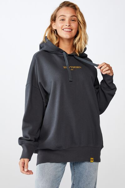 Afl Womens  Embroidered Hoodie, HAWTHORN