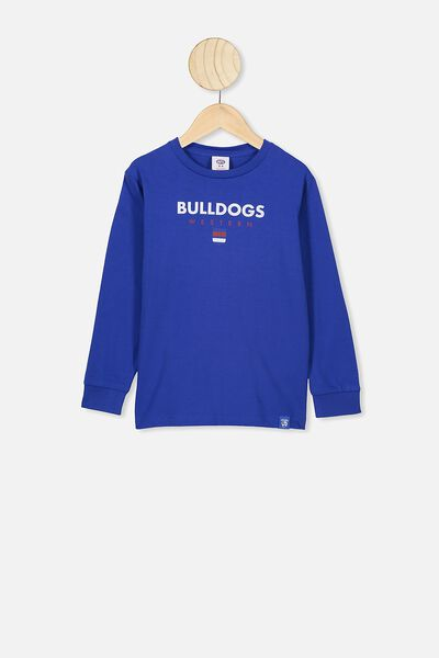 Afl Kids Graphic Long Sleeve, WESTERN BULLDOGS