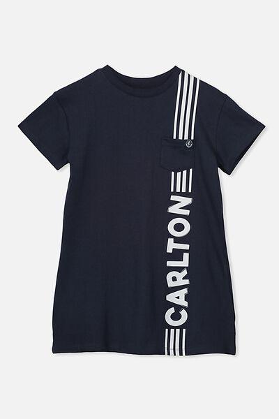 Afl Girls T-Shirt Dress, CARLTON