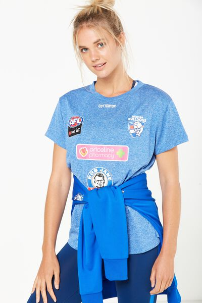Aflw Training Short Sleeve Tee, WESTERN BULLDOGS
