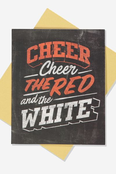 Afl Greeting Card - Chalk Design, SYDNEY