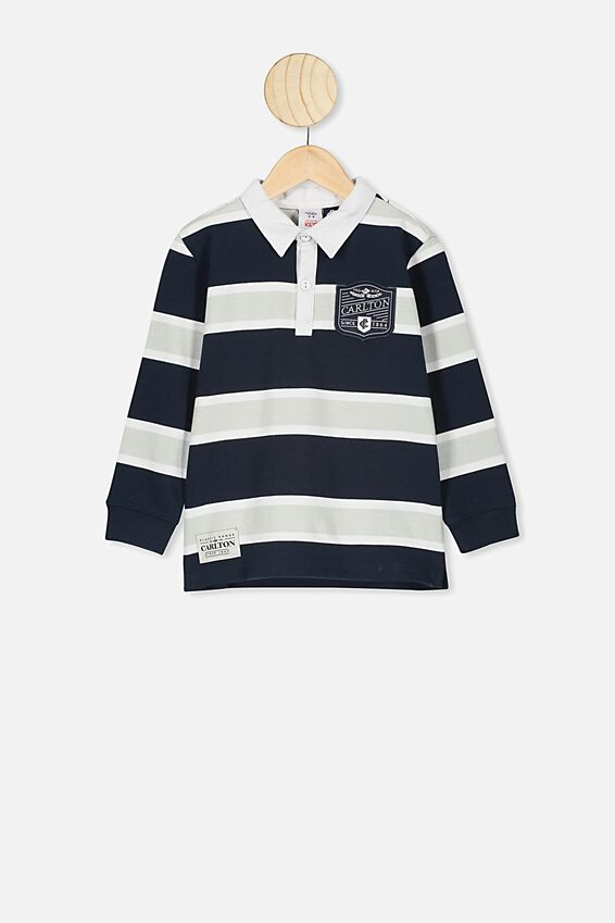 Afl Kids Old School Rugby Polo, CARLTON