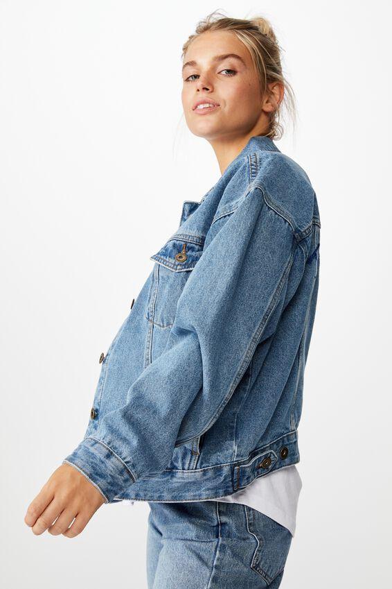 NRL Womens cropped denim jacket - EELS, EELS