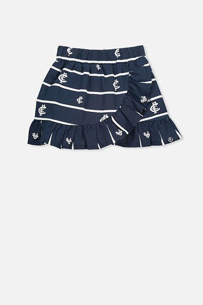 Afl Girls Ruffle Skirt, CARLTON