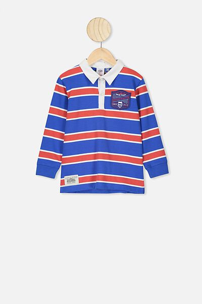 Afl Kids Old School Rugby Polo, WESTERN BULLDOGS