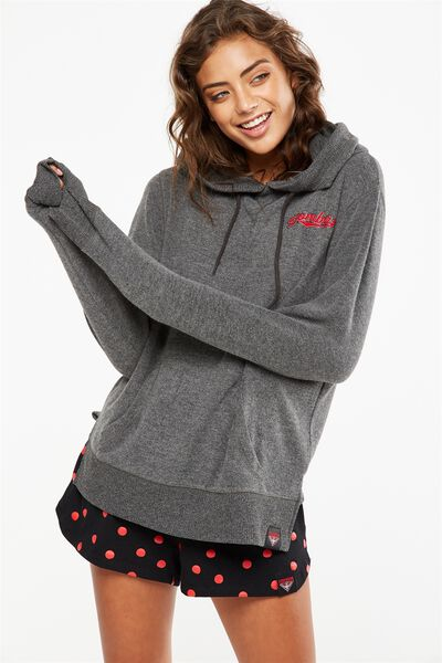 Afl Ladies Soft Touch Hoody, ESSENDON