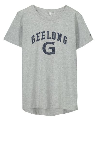 Gfc Gym Tee - Kids, GREY MARLE