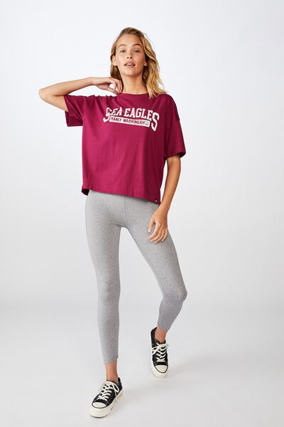 Nrl Womens Cropped T-Shirt, SEA EAGLES