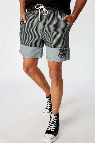 Nrl Mens Stripe Board Short, WARRIORS