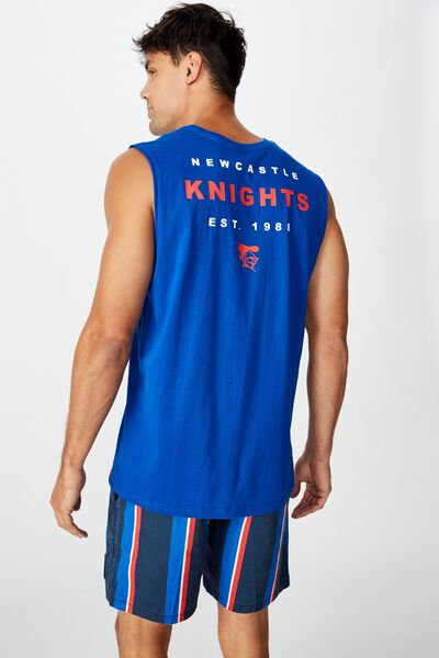 Nrl Mens Text Muscle Tank, KNIGHTS