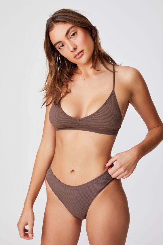 Seamfree Bikini Brief, DEEP TAUPE