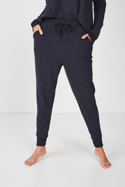 Super Soft Slim Fit Pant, NAVY BABY MARLE