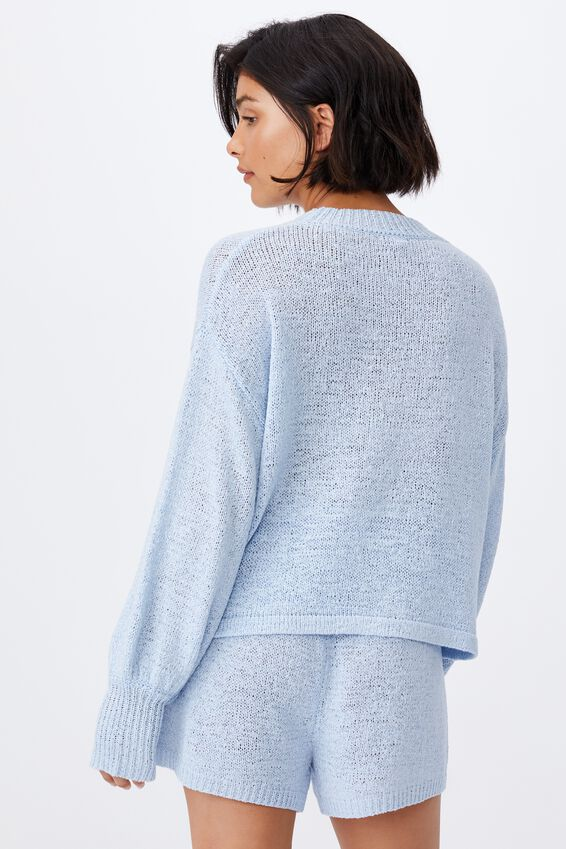 Summer Lounge Long Sleeve, BABY BLUE