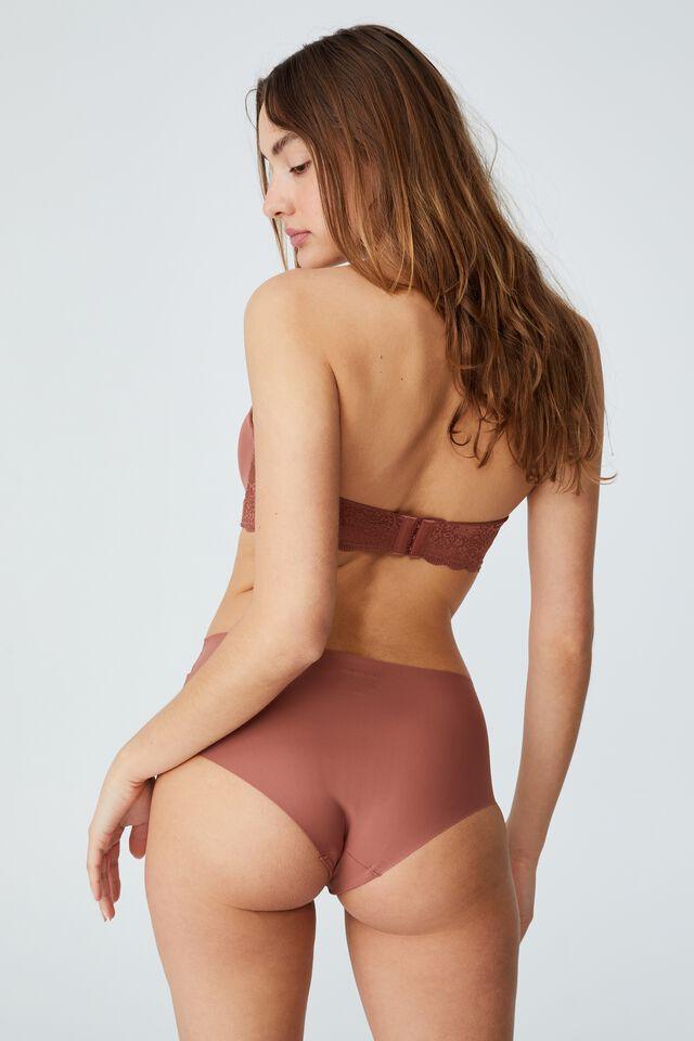 The Invisible High Cut Bikini Brief, CAPPUCCINO