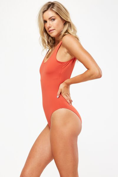 Charley Thick Strap One Piece Cheeky, COPPER