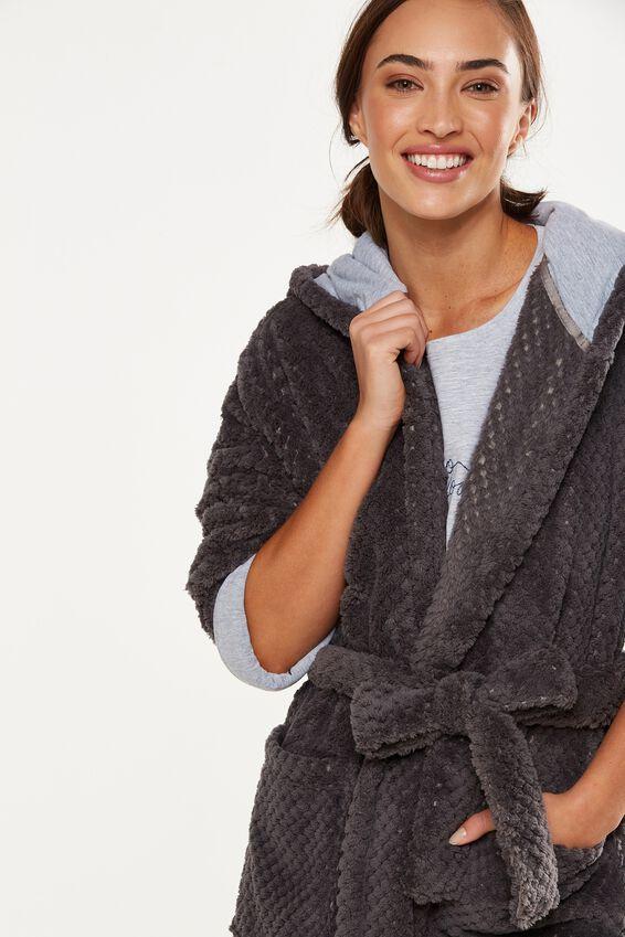 Luxe Plush Gown, SMOKEY TEXTURED
