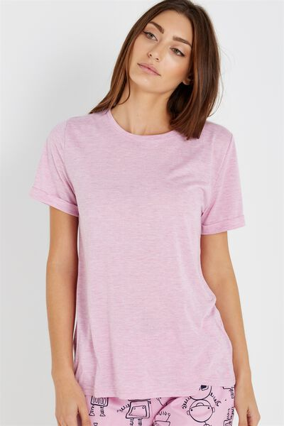 Sparkle Short Sleeve Tshirt, SWEET ORCHID