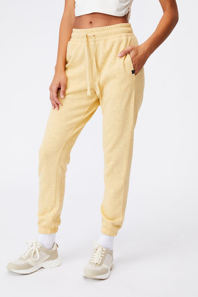 Lifestyle Gym Track Pant, MELLOW YELLOW MARLE