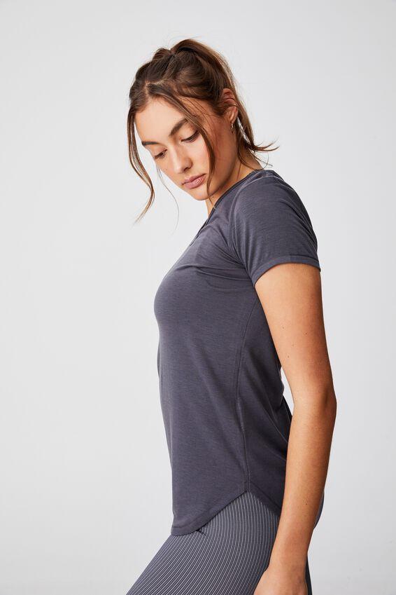 Gym T Shirt, PEWTER GREY