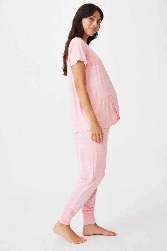 Sleep Recovery Maternity T Shirt, BALLERINA STRIPE