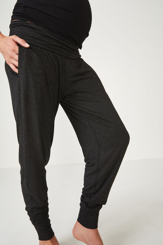 Sleep Recovery Maternity Pant, BLACK MARLE
