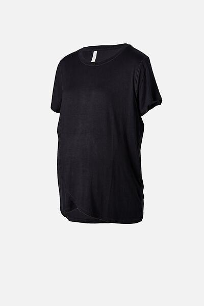 Sleep Recovery Maternity T Shirt, BLACK