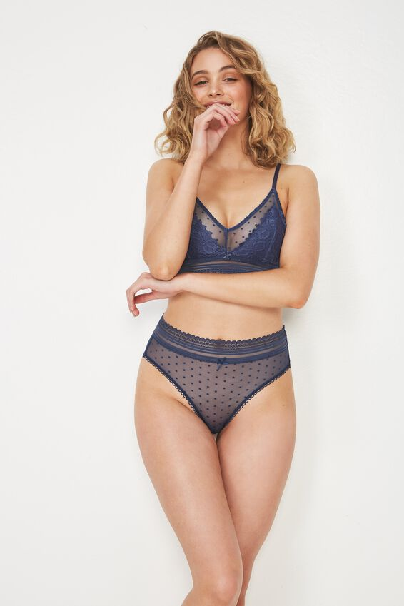 Stephanie Mesh Highwaist Cheeky Bikini Brief at Cotton On in Brisbane, QLD   Tuggl