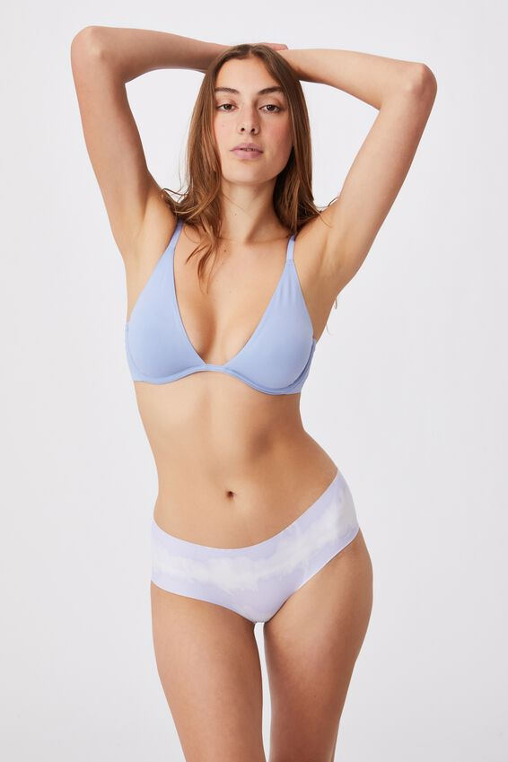 The Invisible Boyleg Brief, LINEAR TIE DYE CHALKY LAVENDER