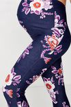 Maternity Lightweight 7/8 Tight, NAVY ETCHED FLORAL
