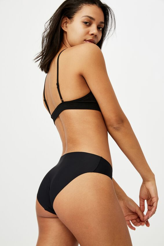 The Invisible Bikini Brief, BLACK