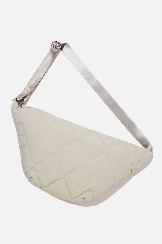 Quilted Cross Body Bag, GREEN HAZE