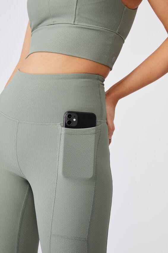 Rib Pocket 7/8 Tight, BASIL GREEN