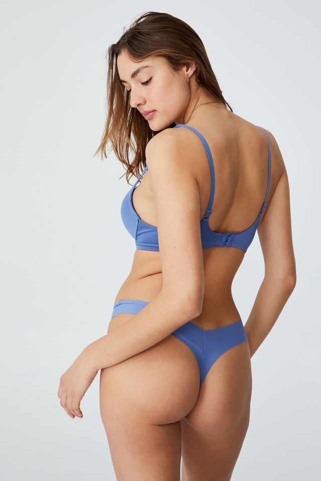 The Invisible G String Brief, ANTIQUE BLUE