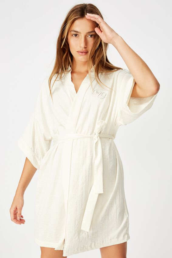 Personalised Textured Kimono, GARDENIA