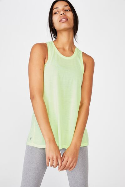 Active Elastic Back Tank Top, LIMELIGHT