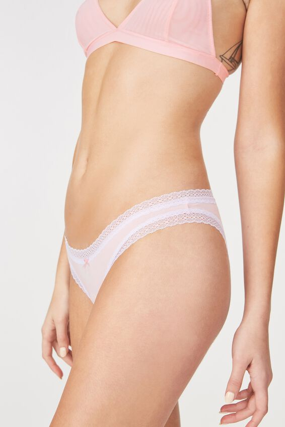 Cotton Rich Bikini Brief, PINK SHERBERT