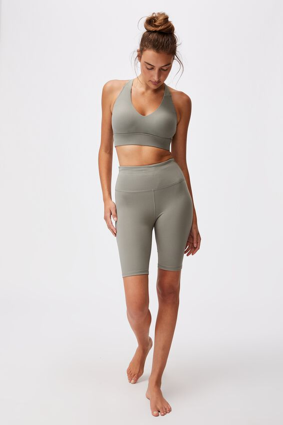 Highwaisted Mid Length Bike Short, CORE STEELY SHADOW