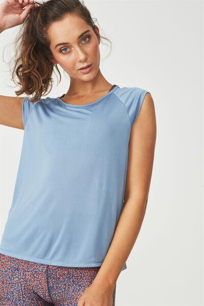 Split Back Tshirt, FROSTED BLUE