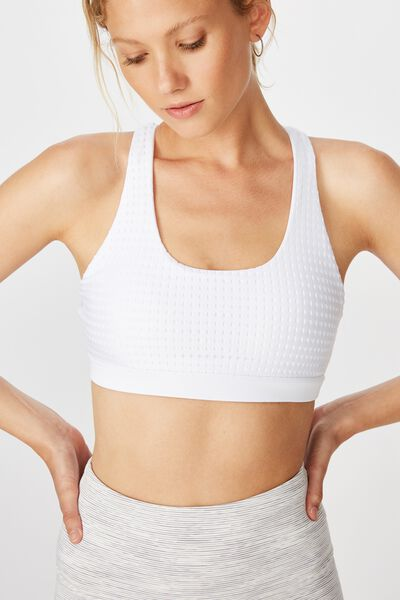 Workout Cut Out Crop, WHITE LASER