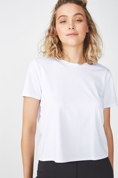 Envelope Back T-Shirt, WHITE