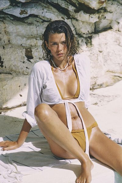Tie Front Beach Top, WHITE