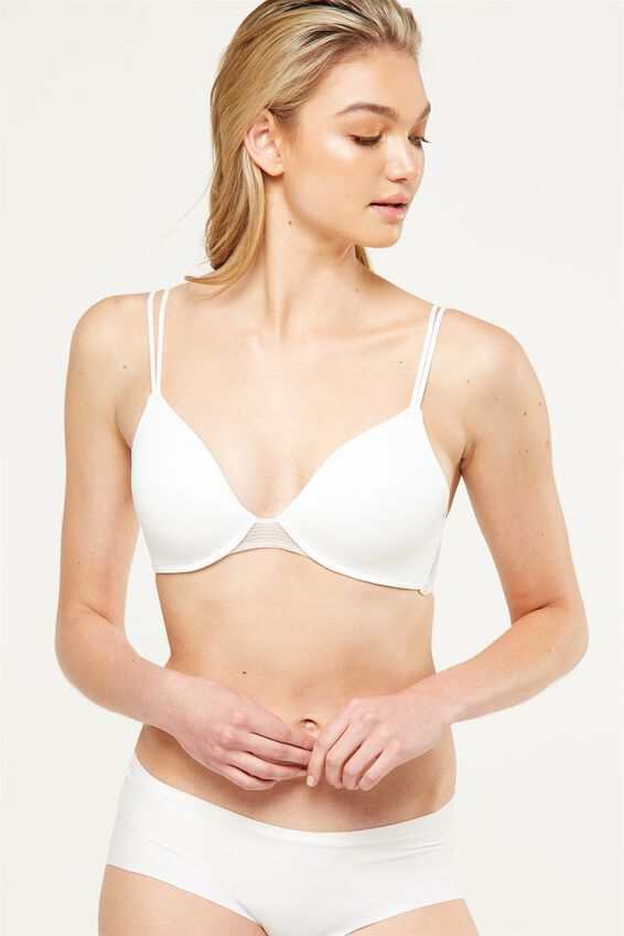 Ultimate Lace Comfort Bra, CREAM