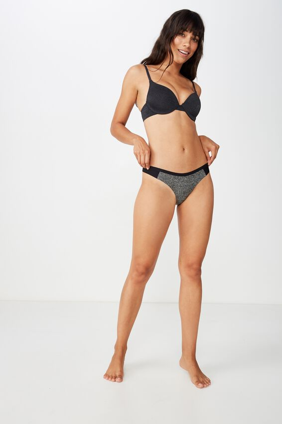 Workout Seamless G-String Brief, S & P SPACE DYE