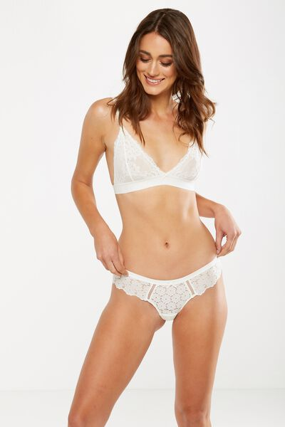 Broderie Anglais Bikini Brief, CREAM