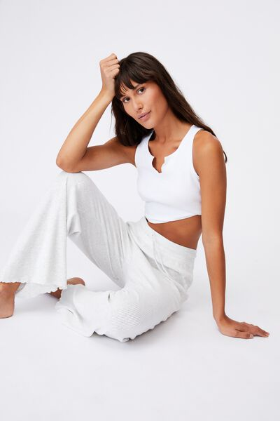 Super Soft Relaxed Pant, SOFT GREY MARLE RIB