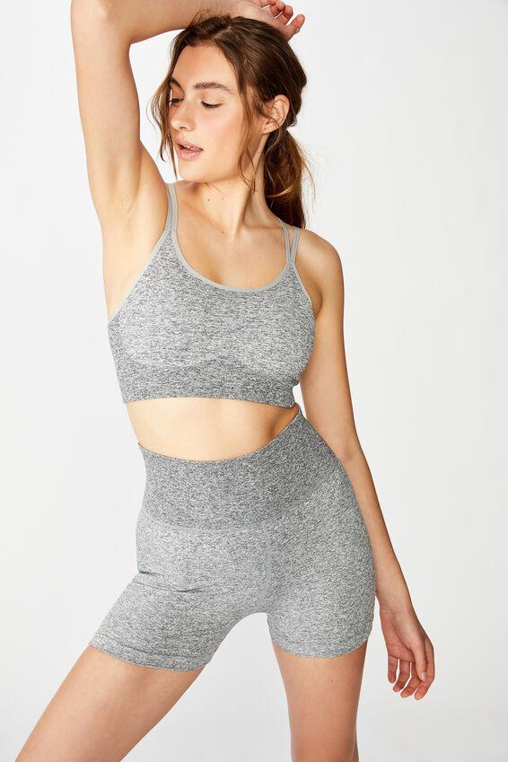 Seamfree Yoga Crop, GREY MARLE