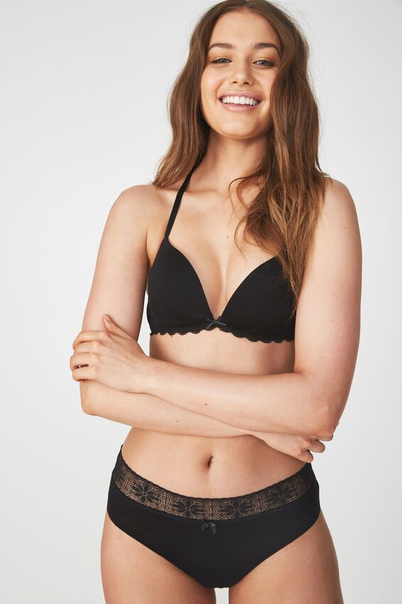 Super Soft Wirefree Lift Bra, BLACK