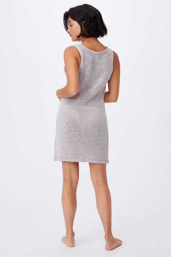 Summer Lounge Slip Dress, QUAIL